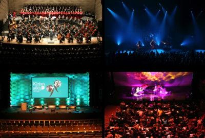 esitystila eri esitysvaloissa